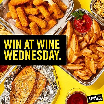 McCain Foodservice - Win at Wine Wednesday instagram photo.