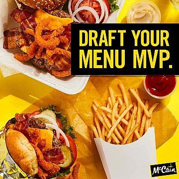 McCain Foodservice - Draft Your Menu MVP Instagram Post