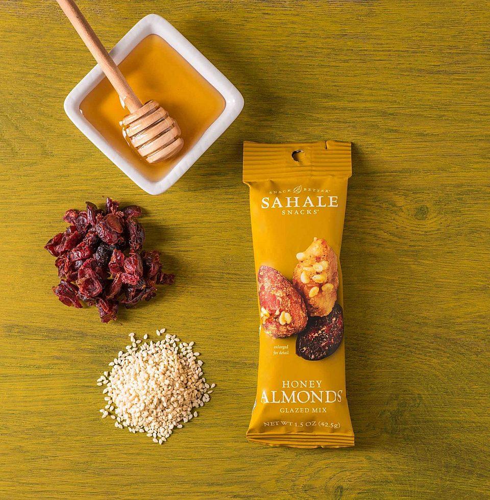 A Sahale Snacks Honey Almonds Glazed Mix snack.